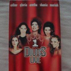 Casetes antiguos: DIVAS LIVE VHS 1998 GLORIA ESTEFAN CELINE DION MADE IN USA. Lote 245878665