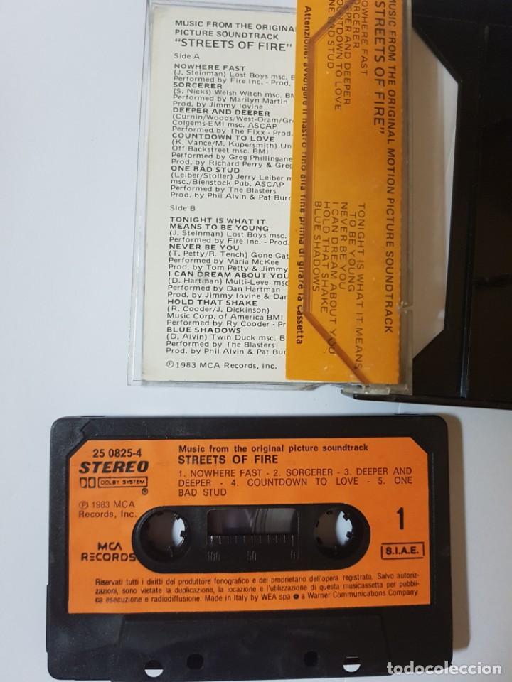 Casetes antiguos: BSO Original de la mítica película ochentera Calles de Fuego (Streets of Fire). con Diane Lane - Foto 4 - 247621190