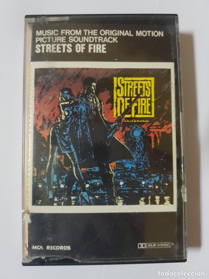 Casetes antiguos: BSO Original de la mítica película ochentera Calles de Fuego (Streets of Fire). con Diane Lane - Foto 5 - 247621190