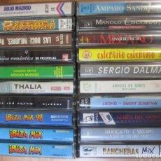Cassettes Anciennes: LOTE 20 CASETE VARIOS MANOLO ESCOBAR ROBERTO CARLOS IBIZA MIX THALIA ROSARIO. Lote 252509580