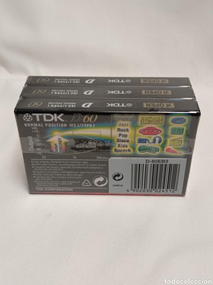 Casetes antiguos: Lote 3 cintas de cassette TDK 60 minutos - Foto 2 - 254267435