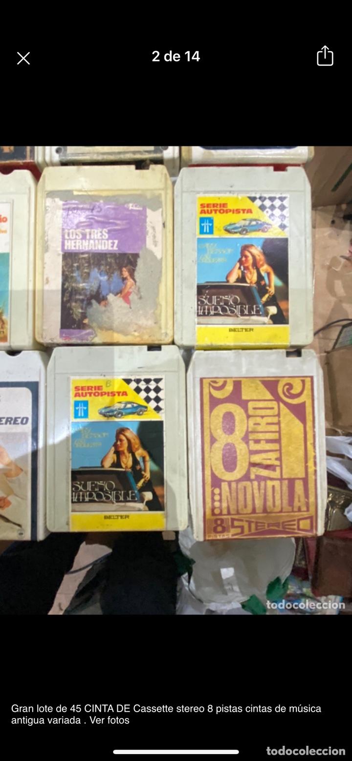 Casetes antiguos: Gran lote de 45 CINTA DE Cassette stereo 8 pistas cintas de música antigua variada . Ver fotos - Foto 2 - 255379380