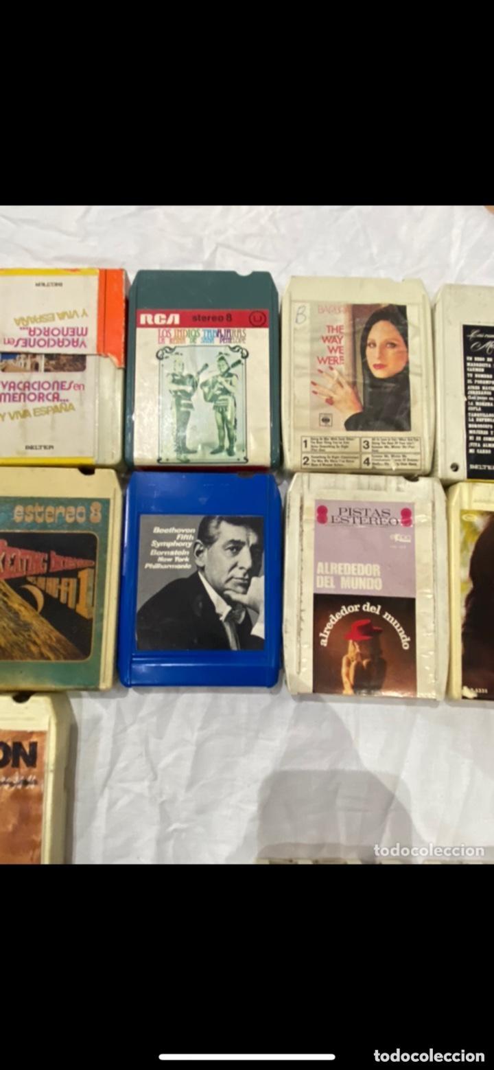 Casetes antiguos: Gran lote de 45 CINTA DE Cassette stereo 8 pistas cintas de música antigua variada . Ver fotos - Foto 6 - 255379380