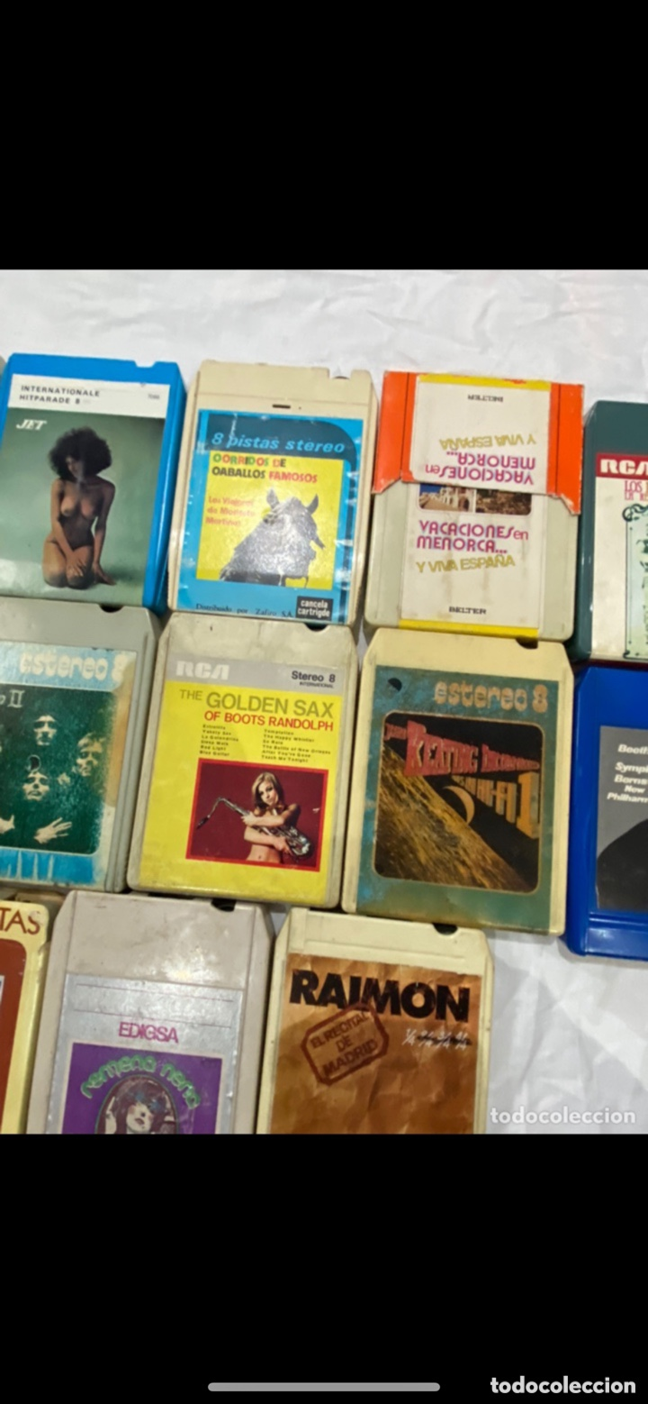 Casetes antiguos: Gran lote de 45 CINTA DE Cassette stereo 8 pistas cintas de música antigua variada . Ver fotos - Foto 7 - 255379380