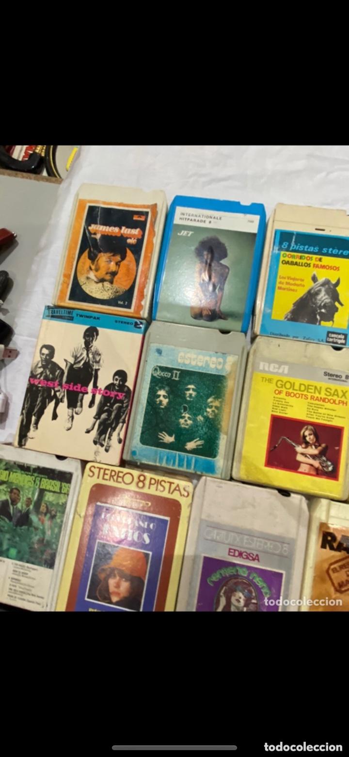 Casetes antiguos: Gran lote de 45 CINTA DE Cassette stereo 8 pistas cintas de música antigua variada . Ver fotos - Foto 8 - 255379380
