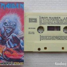 Casetes antiguos: IRON MAIDEN – A REAL LIVE ONE CASSETTE - 1993 -RARA EDICION ESPAÑOLA - METAL. Lote 257600025