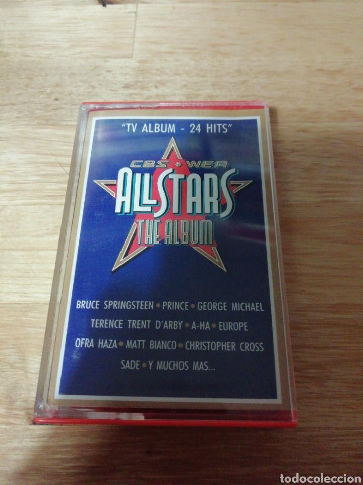 Casetes antiguos: ALL STARS THE ALBUM - CBS WEA 1988 - COMPLETO - BROS - PRINCE - EUROPE - SADE - FALCO - A-HA - COHEN - Foto 5 - 261140905