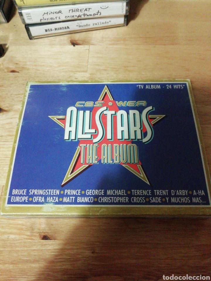 ALL STARS THE ALBUM - CBS WEA 1988 - COMPLETO - BROS - PRINCE - EUROPE - SADE - FALCO - A-HA - COHEN (Música - Casetes)