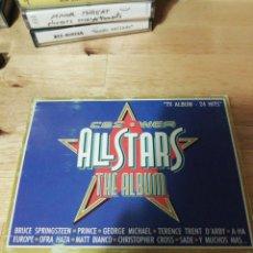 Casetes antiguos: ALL STARS THE ALBUM - CBS WEA 1988 - COMPLETO - BROS - PRINCE - EUROPE - SADE - FALCO - A-HA - COHEN. Lote 261140905