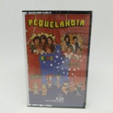 Cassetes antigas: CASETE PEQUELANDIA PRECINTADO. DARTACÁN, ULISES, CARPANTA, LOS PICAPIEDRA, ASTERIX, CUMPLEAÑOS FELIZ. Lote 261629745