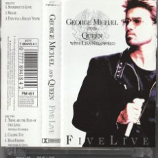 Casetes antiguos: GEORGE MICHAEL AND QUEEN WITH LISA STANFIELD - FIVE LIVE (CASSETTE PARLOPHONE EU). Lote 262078120