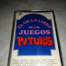 Casetes antiguos: EL GRAN LIBRO DE LOS JUEGOS PITUFOS. Lote 262968285