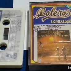 Casetes antiguos: CASETE CINTA CASSETTE ( BOLEROS DE ORO VOL 1 ) 1982 SEVEN - MANOLO GARCIA. Lote 263083975