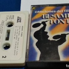Casetes antiguos: CASETE CINTA CASSETTE ( CANCIONES DEL FILM BESAME TONTA )1982 AX - AUVI. Lote 263090270