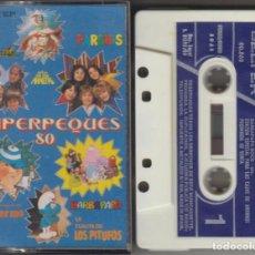 Cassetes antigas: SUPERPEQUES 80 CASSETTE 1980 REGALIZ PARCHIS PITUFOS BARBAPAPA. Lote 266600738