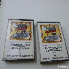 Cassetes antigas: CANCIONES PARA DESPUES DE UNA GUERRA (DOBLE CASSETTE CBS 1976). Lote 267713109