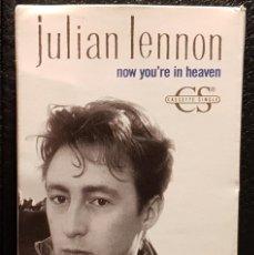 Cassetes antigas: JULIAN LENNON - BEATLES - NOW YOURE IN HEAVEN - CASSETTE SINGLE - USA - EXCELENTE - NO USO CORREOS. Lote 268450034
