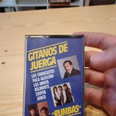 Casetes antiguos: GC-99 CASETE MUSICA GITANOS DE JUERGA RUMBAS LOS CHUNGUITOS PACO AGUILERA CHIPEN JUNCO ETC. Lote 268801864