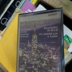 Casetes antiguos: GERSHWIN RHAPSODY IN BLUE UN AMERICAIN A PARIS CASSETTE. Lote 269437358