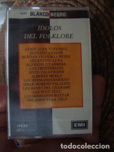 CASET ORIGINAL IDOLOS DEL FOLKLORE REYES LUNA YUPANQUI (Música - Casetes)