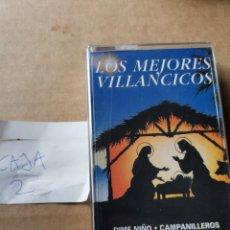Casetes antiguos: LOS MEJORES VILLANCICOS. Lote 270170543