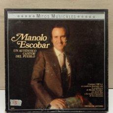 Casetes antiguos: MITOS MUSICALES - MANOLO ESCOBAR - ESTUCHE 3 CASSETTES - UN AUTENTICO CANTOR DEL PUEBLO. Lote 270243343