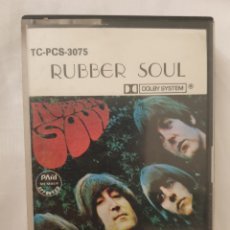 Casetes antiguos: CASETE RUBBER SOUL THE BEATLES EMI RECORDS PARLOPHONE DOLBY SYSTEM. Lote 272094538
