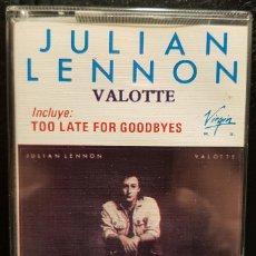 Cassettes Anciennes: JULIAN LENNON - BEATLES - VALOTTE - CASSETTE - CHILE - RARO - NO USO CORREOS. Lote 276527713