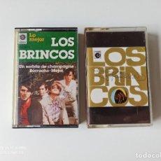 Casetes antiguos: LOS BRINCOS, 2 CASSETTES. Lote 277088038