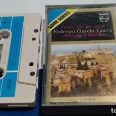 Casetes antiguos: CASETE( ALFREDO ARREBOLA - CANTES A LOS POETAS DE FEDERICO GARCIA LORCA ) 1971 PHILIPS SONIC SERIES. Lote 277088953