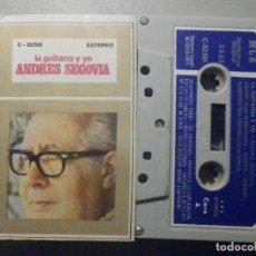 Casetes antiguos: CINTA DE CASSETTE - LA GUITARRA Y YO - ANDRÉS SEGOVIA - MCA 1971 - CURSO. Lote 277096823