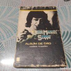 Casetes antiguos: JOAN MANUEL SERRAT, ALBUM DE ORO, CAJA / BOX CON 4 CASETTES. Lote 277854568