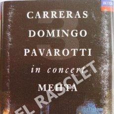 Casetes antiguos: CINTA CASSETTE DE : CARRERAS - DOMINGO - PAVAROTI - IN CONCERT - MEHTA -. Lote 284638778