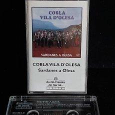 Casetes antiguos: COBLA VILA D'OLESA / SARDANES A OLESA / MC - AUDIO-VISUALS SARRIÀ-1997 / IMPECABLE. DIFÍCIL.. Lote 285201983