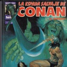 Cassetes antigas: LA ESPADA SALVAJE DE CONAN - SUPER CONAN Nº 3 - 2ª EDCION LOMO MORADO - LA ESPADA DE SKELOS FORUM #. Lote 286422603