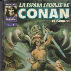 Cassetes antigas: LA ESPADA SALVAJE DE CONAN - SUPER CONAN Nº 4 - 2ª EDCION LOMO MORADO - CONAN EL RENEGADO - FORUM #. Lote 286422738