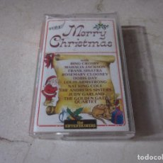 Casetes antiguos: MERRY CHRISTMAS CASETE - CON BING CROSBY, FRANK SINATRA, LOUIS ARMSTRONG - THE ENTERTAINERS 1987. Lote 287970878