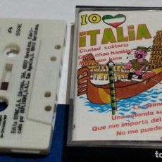 Casetes antiguos: CASETE CINTA CASSETTE ( IO AMO ITALIA ) 1987 PERFIL - MUY POCO USO. Lote 288114173