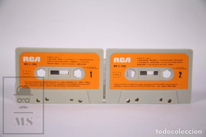 Casetes antiguos: Cinta Doble de Casete / Cassette - Now 3 Esto si es Música Vol. 1 y 2 - RCA - Año 1986 - Foto 3 - 289459853