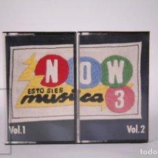 Casetes antiguos: CINTA DOBLE DE CASETE / CASSETTE - NOW 3 ESTO SI ES MÚSICA VOL. 1 Y 2 - RCA - AÑO 1986. Lote 289459853