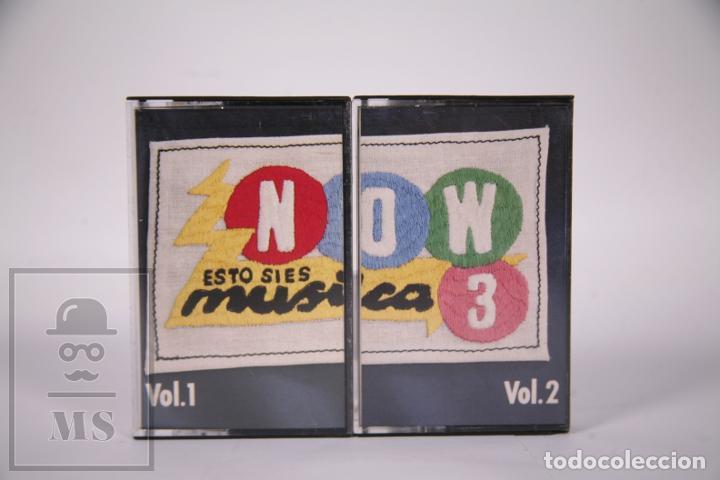 Casetes antiguos: Cinta Doble de Casete / Cassette - Now 3 Esto si es Música Vol. 1 y 2 - RCA - Año 1986 - Foto 2 - 289459853