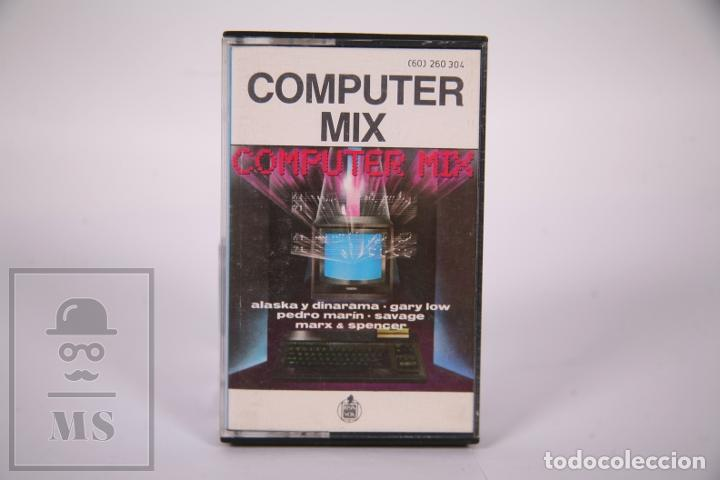 CINTA DE CASETE / CASSETTE - COMPUTER MIX / ALASKA Y DINARAMA, GARY LOW, SAVAGE.. - HISPVOX 1985 (Música - Casetes)