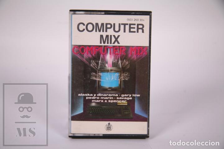 Casetes antiguos: Cinta de Casete / Cassette - Computer Mix / Alaska y Dinarama, Gary Low, Savage.. - Hispvox 1985 - Foto 2 - 289459893