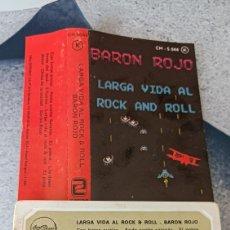 Casetes antiguos: BARON ROJO LARGA VIDA AL ROCK AND ROLL. Lote 289692963