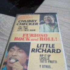 Casetes antiguos: CASETE CHUBBY CHECKER Y LITTLE RICHARD FURIOSO ROCK AND ROLL. Lote 289900398