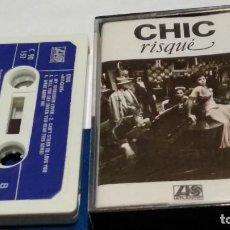 Casetes antiguos: CASETE CINTA CASSET( CHIC - RISQUÉ )1979 ATLANTIC HISPAVOX - FUNK, SOUL Y BLACK MUSIC - MUY POCO USO. Lote 289902428