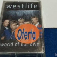 Casetes antiguos: CASETE CINTA CASSETTE ( WESTLIFE - WORLD OF OUR OWN ) 2001 BMG -POP - NUEVA SIN USAR. Lote 294968018