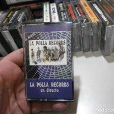 Casetes antiguos: CASSETTE ROCK PUNK HEAVY LA POLLA RECORDS EN DIRECTO ORIGINAL EXCELENTE ESTADO. Lote 296585723
