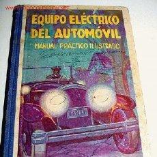 Coches y Motocicletas: PUIG BATET, JOSÉ EQUIPO ELÉCTRICO DEL AUTOMÓVIL -. Lote 25826410