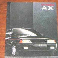 Coches y Motocicletas: CITROEN AX - CATALOGO PUBLICIDAD ORIGINAL - 1991 - ESPAÑOL. Lote 14035325